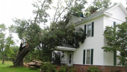 Storm Damage to Fayetteville home