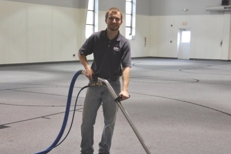 Volunteer day to clean carpet at a local church