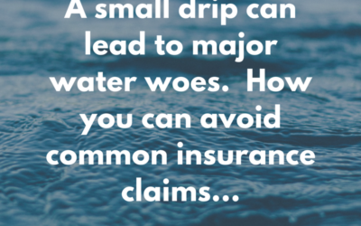 How you can avoid common water loss claims